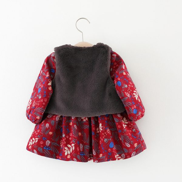Autumn winter season children clothes baby girl warm vest ali kids store
