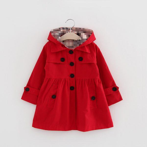 2017 new Koreanr children's jacket gir cotton coat wholesale baby clothing girls spring children Windbreaker kids long coat
