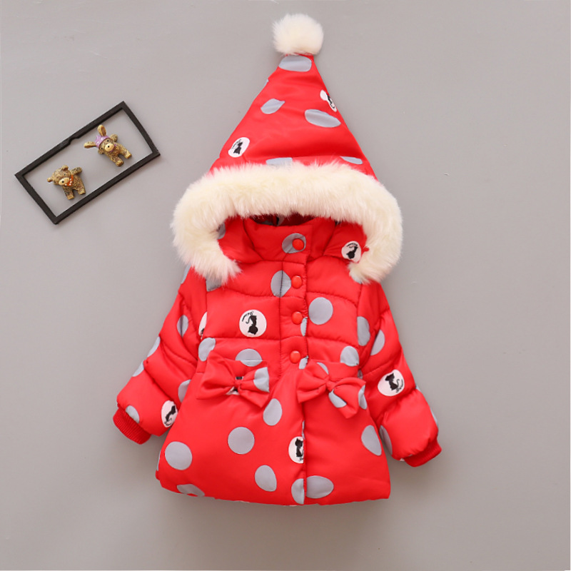 2017 Winter Baby Girls Coats Infant/Newborn Warm Jackets Cartoon Children Thick Outerwear Kids Outdoor Snow Parkas