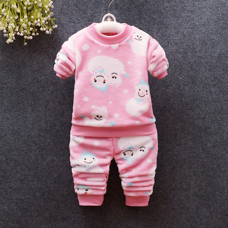 cartoon flannel suits kids girls soft sleepwear outfits ali kids store