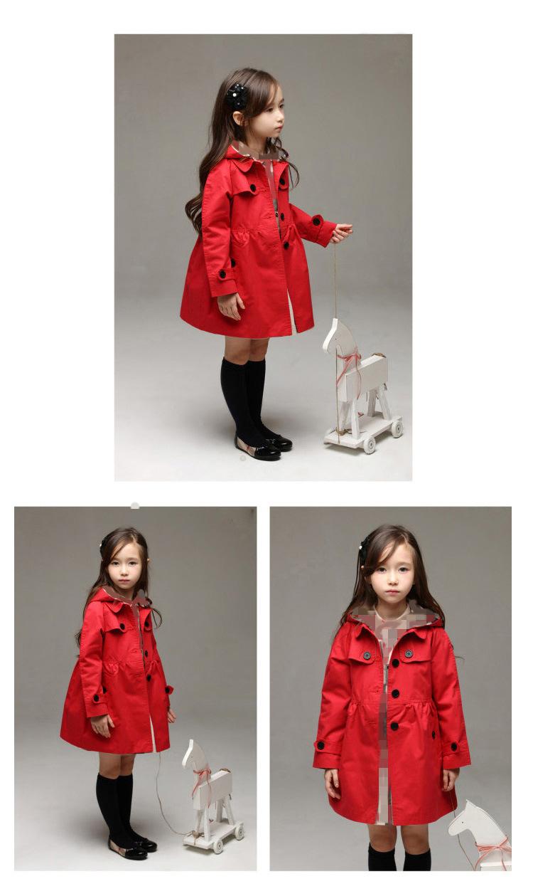 2017 new Koreanr children's jacket gir cotton coat wholesale baby clothing girls spring children Windbreaker kids long coat ali kids store