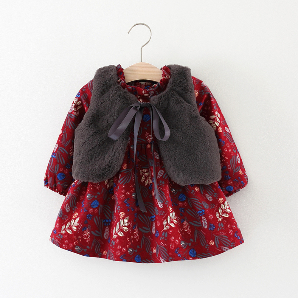 Autumn winter season children clothes baby girl warm vest