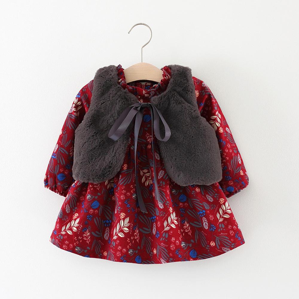 Autumn winter season children clothes baby girl warm vest