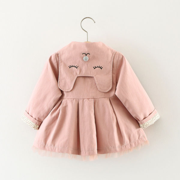 Baby Girls Cute Trench Coat Pink/Green/Khaki Cotton Long Jackets ali kids store