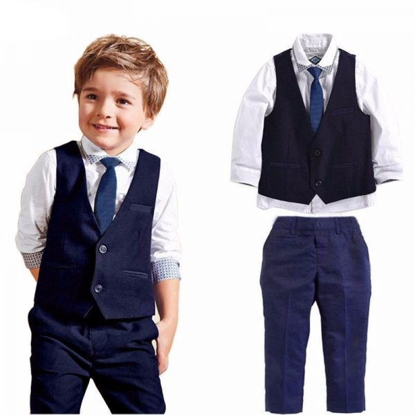 Gentle Boy Party Wear 3 piece dress coat pant shirt tie