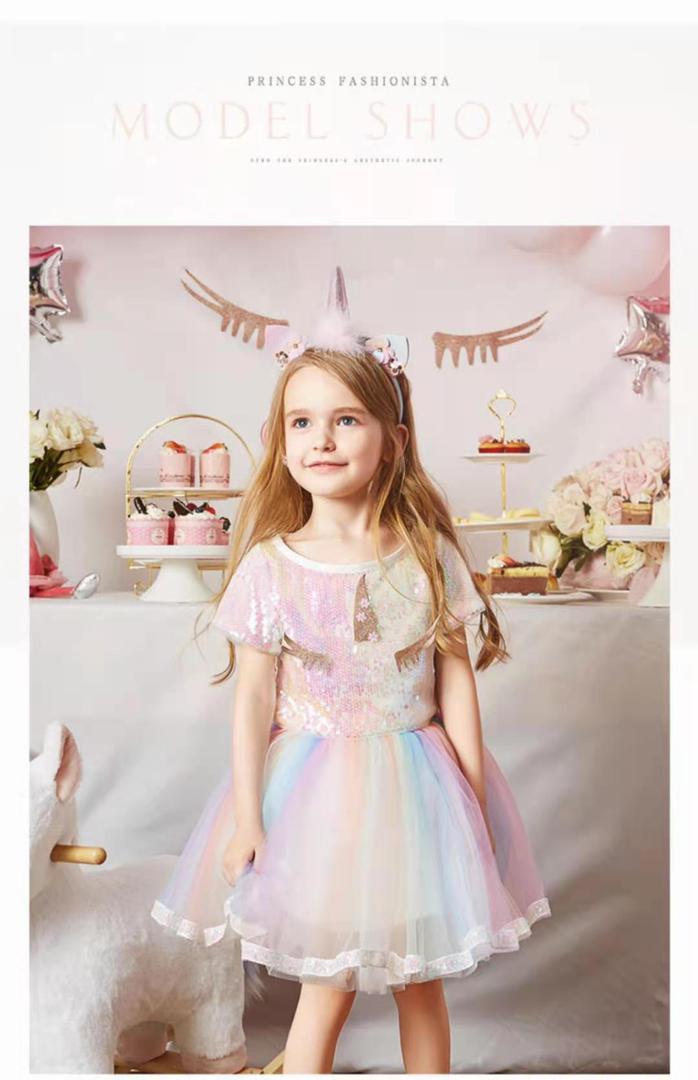 rainbow color unicorn theme dresses in pakistan