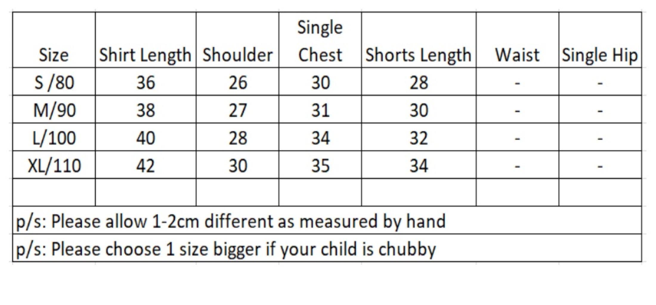 size chart ali kids store